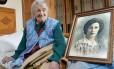A italiana Emma Morano, mulher mais velha do mundo, aos 116 anos
