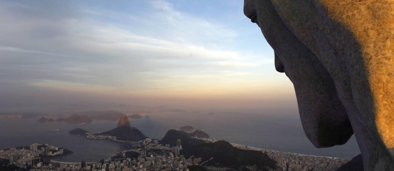 Cristo Redentor, a melhor atração do Brasil, segundo o Trip Advisor Foto: Custódio Coimbra / Agência O Globo