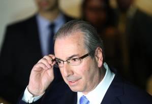 Eduardo Cunha (PMDB-RJ), afastado do mandato de deputado federal e da presidência da Câmara Foto: Andre Coelho / Agência O Globo