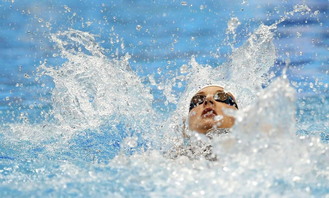 Katinka Hosszu, da Hungria, na final feminina dos 200m costas em Londres ANDREW BOYERS / REUTERS