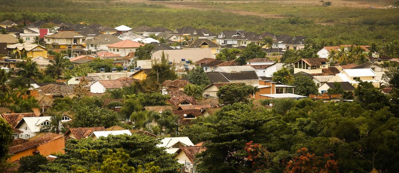 Vista de Vargem Grande, do Santuário Montserrat Foto: Guilherme Leporace / Agência O Globo