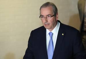 O deputado federal afastado Eduardo Cunha (PMDB-RJ) Foto: Andre Coelho / Agência O Globo