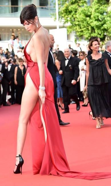 Bella Hadid: fatal no red carpet ALBERTO PIZZOLI / AFP