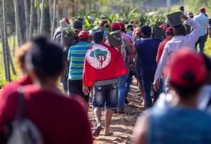 MST na suposta fazenda de Michel Temer, em Duartina, no último ano Foto: Pedro Kirilos / Agência O Globo - 12/05/2016