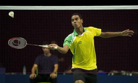 Ygor Coelho, atleta brasileiro de badminton Foto: Guito Moreto / O GLOBO