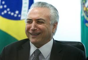 O presidente interno, Michel Temer Foto: André Coelho / Agência O Globo 17/05/2016