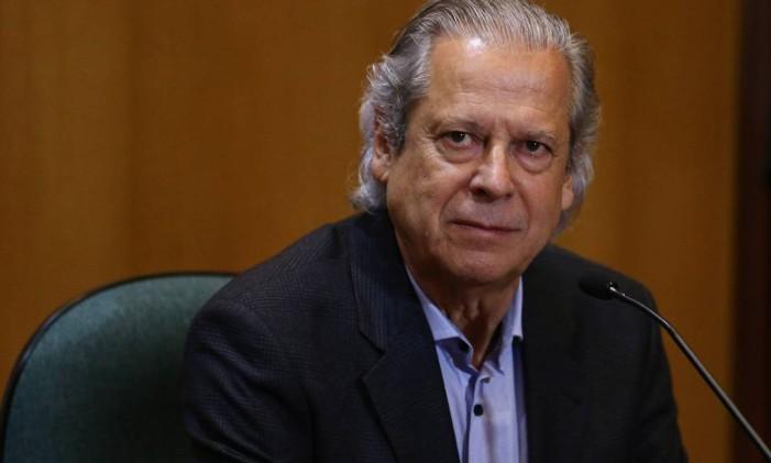 O ex-ministro José Dirceu 31/08/2015 Foto: Geraldo Bubniak / Agência O Globo