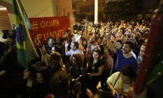 Manifestantes paulistas chegam à Funarte Foto: Agência O Globo