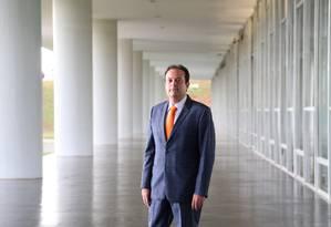 O novo líder do governo na Câmara, deputado André Moura (PSC -SE) Foto: Michel Filho / Agência O Globo 16/05/2016