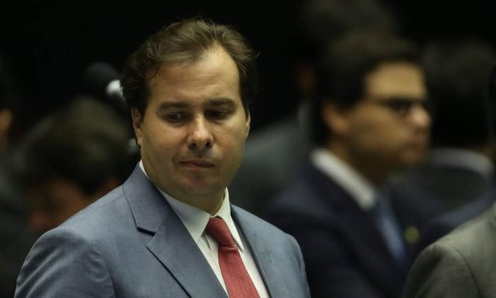 O deputado Rodrigo Maia (DEM-RJ) Foto: André Coelho / Agência O Globo / 14-7-2015