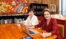 A presidente afastada Dilma Rousseff e a ex-ministra do Desenvolvimento Social Tereza Campello Foto: Reprodução
