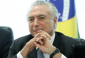 O presidente interino Michel Temer Foto: Andre Coelho / Agência O Globo / 17-5-2016