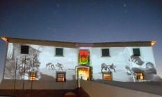 Imagens do acervo do Espaço Pierre Verger projetadas na fachada do Forte Santa Maria, em Salvador Carybé no Forte São Diogo Foto: Divulgação