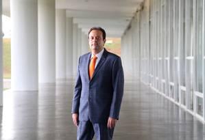 O novo líder do governo na Câmara, deputado André Moura (PSC -SE) Foto: Michel Filho / Agência O Globo / 18-5-2016