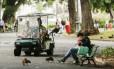 Guardas municipais fazem patrulhamento no Campo de Santana