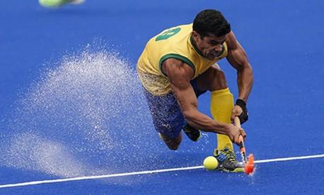 Stephane Vehrle-Smith, jogador da seleção brasileira de hóquei Foto: Alexandre Cassiano / O Globo