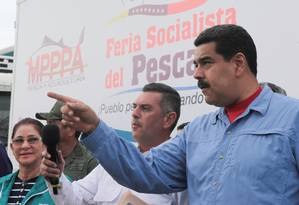 Maduro em evento na quarta-feira, na cidade de Guanta: no início do mês, Papa Francisco expressou preocupação com tensões políticas em carta ao presidente venezuelano Foto: HANDOUT / REUTERS
