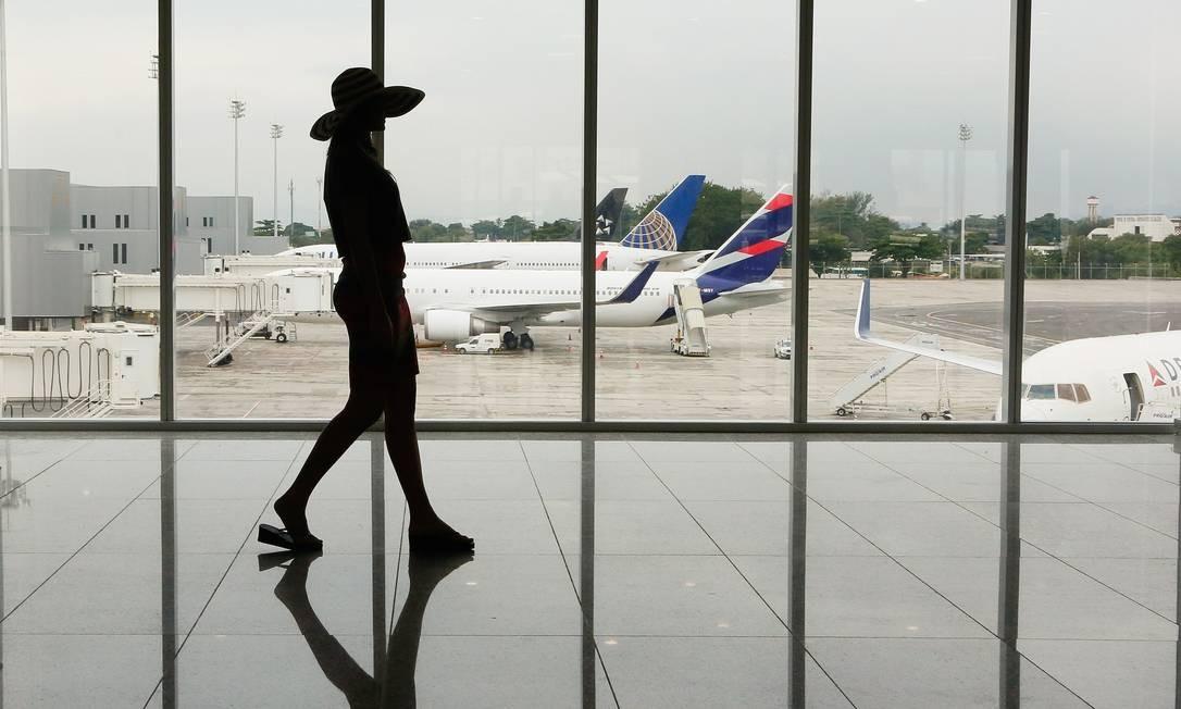 O novo Píer Sul do aeroporto Antônio Carlos Jobim tem uma a área de mais de 100 mil metros quadrados e conta com 26 novas pontes de embarque Pablo Jacob / Agência O Globo