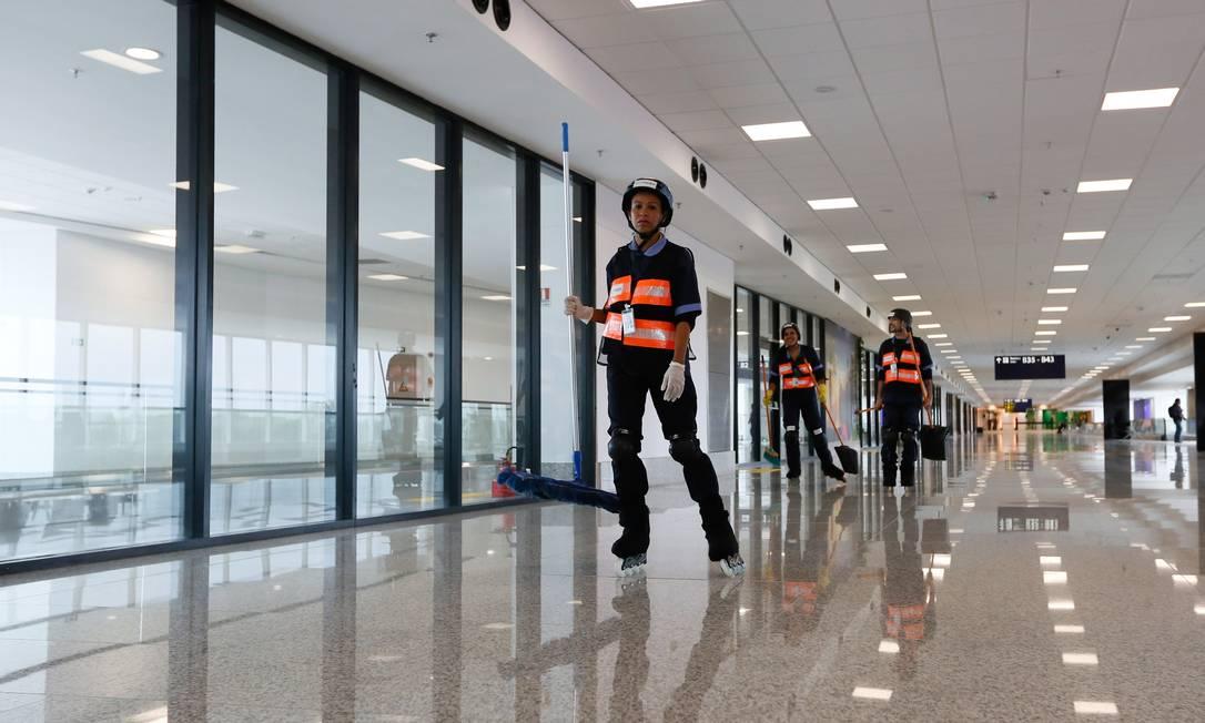 Foram realizadas obras de revitalização no estacionamento do Terminal 1, além da construção de quatro novos pavimenos no edifício garagem do Terminal 2 Pablo Jacob / Agência O Globo