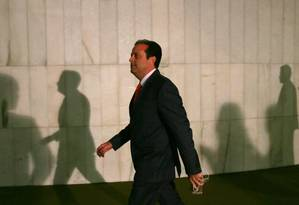 O líder do novo governo na Câmara, deputado André Moura (PSC-SE) Foto: Michel Filho / Agência O Globo 18/05/2016