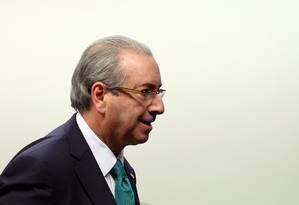 O presidente afastado da Câmara, Eduardo Cunha (PMDB-RJ) Foto: Adriano Machado / Reuters / 19-5-2016
