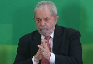 O ex-presidente Luiz Inácio Lula da Silva Foto: André Coelho / Agência O Globo