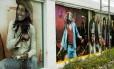 Mural. Imagens de Bob Marley e a banda The Wailers, no museu