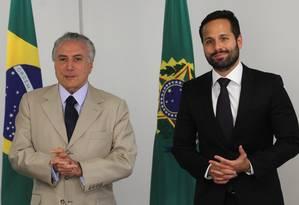 Michel Temer e Marcelo Calero Foto: Givaldo Barbosa / Agência O Globo