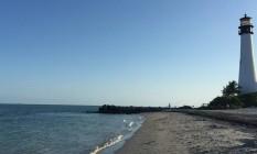 Farol. Construído em 1825, marca a paisagem em Key Biscayne Foto: Henrique Gomes Batista