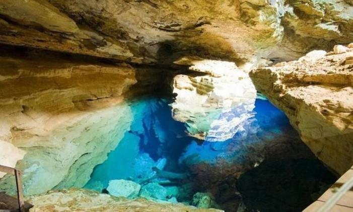 Caverna na Chapada Diamantina Foto: Divulgação