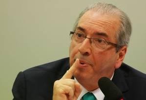 presidente afastado da Câmara tem fidelidade de parte dos deputados Foto: Michel Filho / Agência Câmara/18-5-2016