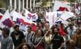 Manifestantes do sindicato PAME protestam contra pacote de austeridade em Atenas