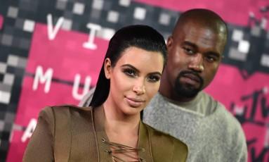 Kim Kardashian e Kanye West Foto: Jordan Strauss / AP