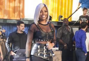 A cantora Ludmilla durante apresentação Foto: Pedro Curi/Rede Globo / Divulgação