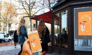 Paris recebe a pimeira exposição de Gifs espalhados pelas ruas. Foto: Divulgação