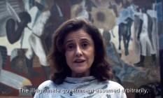 Marieta Severo em vídeo do Ocupa Minc Foto: Reprodução
