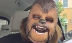 Candace Payne fez sucesso no Facebook com sua máscara do Chewbacca Foto: Reprodução