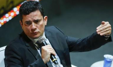 Juiz Sérgio Moro durante seminário em São Paulo Foto: Andre Penner / AP