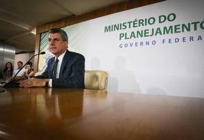 O ministro do Planejamento, Romero Jucá (PMDB/RR), concede entrevista sobre gravações Foto: Andre Coelho / Agência O Globo / 23-5-2016