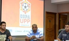 Evento para sorteio das chaves da segunda Copa UPP, que acontece em junho Foto: Alexandre Vidal / Divulgação
