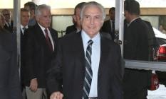 O presidente interino, Michel Temer Foto: Jorge William / Agência O Globo 23/05/2016