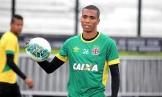 De volta ao time após se recuperar de lesão, Madson no treino de segunda-feira em São Januário Foto: Divulgação