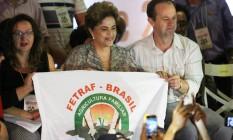 Dilma diz que gravação de Jucá 'escancara o golpe' Foto: Jorge William / Agência O Globo