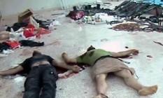 Vítimas do conflito sírio em Daraya, nos arredores de Damasco Foto: HO / AFP