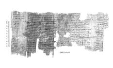 Papiros foram descobertos há mais de um século em cidade a cerca de 160 quilômetros do Cairo, no Egito Foto: Egypt Exploration Society