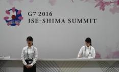 Preparativos para o encontro dos chefes de estado e de governo do G7, em Ise-Shima, no Japão Foto: MANAN VATSYAYANA / AFP