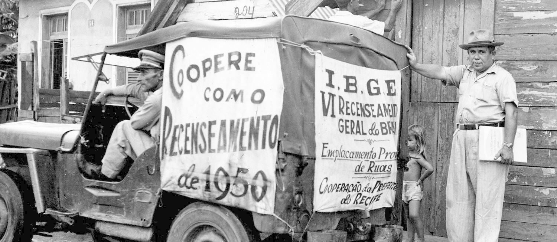 Caminhão de recenseamento do IBGE Foto: Divulgação/IBGE