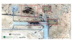 Análise da Stratfor mostra destruição em base russa Foto: Reprodução