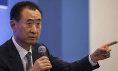 O presidente da Dalian Wanda Group, Wang Jianlin, afirmou que pretende evitar o lucro da Disney na China Foto: Justin Chin / Bloomberg