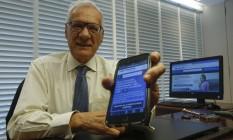 O advogado Luiz Gouvêa, criador da plataforma, está feliz em poder ajudar outras pessoas Foto: Alexandre Cassiano / Agência O Globo